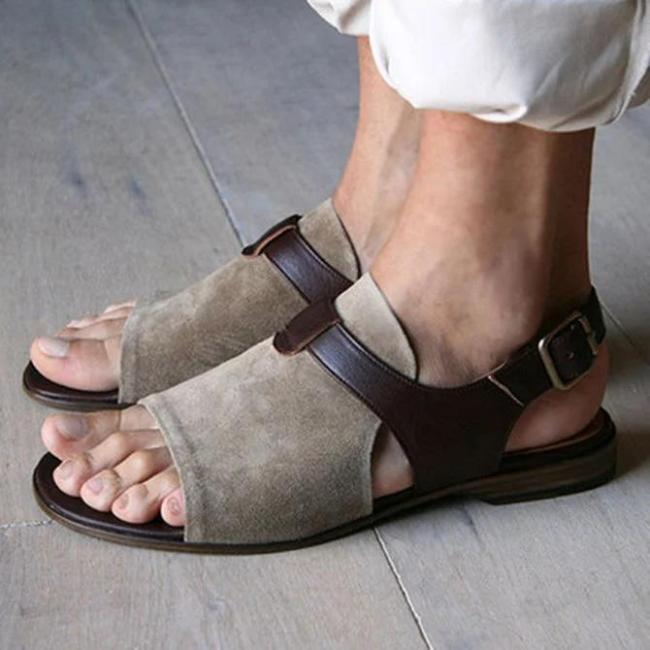 Brown Daily Summer Pu Sandals