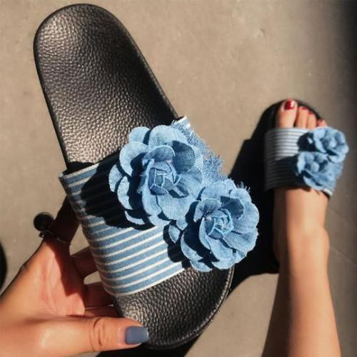 Denim fashion sandals