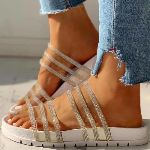 Studded Multi-strap Flat Sandals