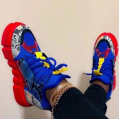 Multicolor Low Heel Date All Season Sneakers