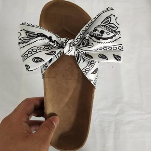 Bow Flat Heel Slippers
