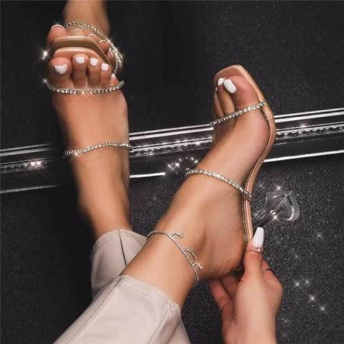 Crystal High Heels Woman Sandal Shoes