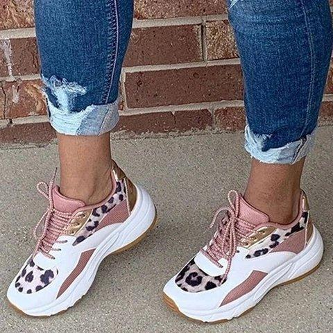 Pink All Season Daily Pu Sneakers