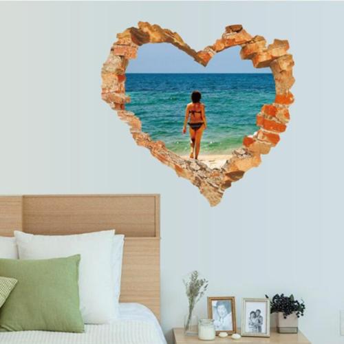 Miico 3D Creative Wall Stickers Home Decor Mural Art Removable Seaside Decor Sticker