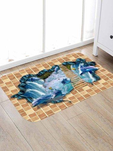 Broken Wall Pattern Rug Bedroom Living room Door Bathroom Anti-slip Floor Mat Carpet