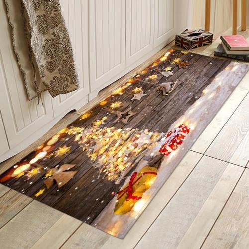 Wooden Board  Pattern Rug Bedroom Living room Door Bathroom Anti-slip Floor Mat Carpet