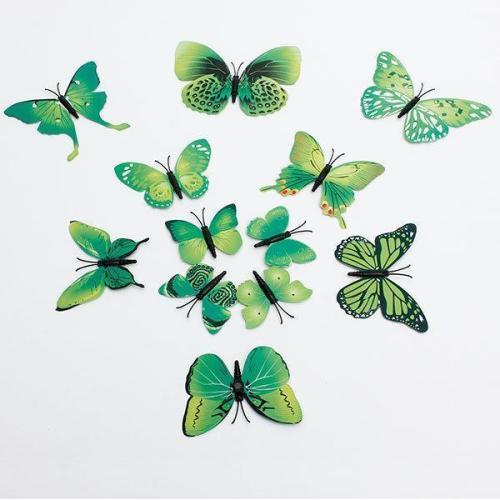 12Pcs 3D Butterfly Wall Sticker Home Decor Art Applique