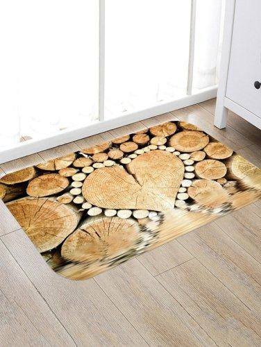 Wooden Pile Pattern Rug Bedroom Living room Door Bathroom Anti-slip Floor Mat Carpet