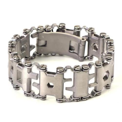 Stainless Steel Multi-Functional Tools Bracelet