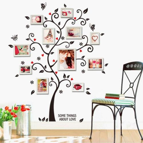 Composite Photo Wall Stickers Tree Of Happiness Stickers