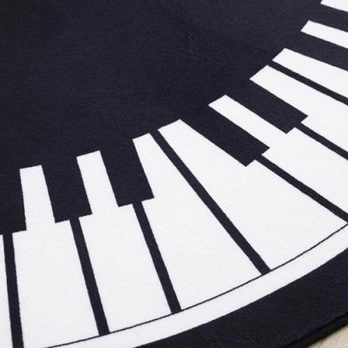 Piano Pattern Round Carpet Bedroom Living Room  Home Bedside Blanket Computer Chair Mat