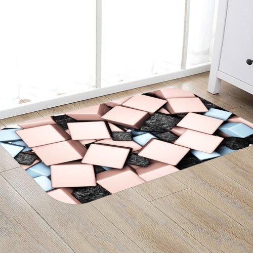 Digital Printing Pattern Rug Bedroom Living room Door Bathroom Anti-slip Floor Mat Carpet