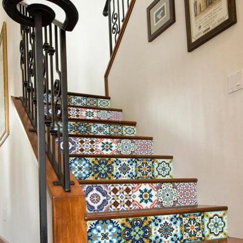 3D Digital Printing Staircase Decorative Character Pattern Print Waterproof Stair Stickers