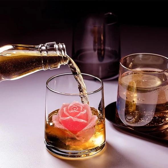 3D Silicone Rose Shape Ice Cube Mold