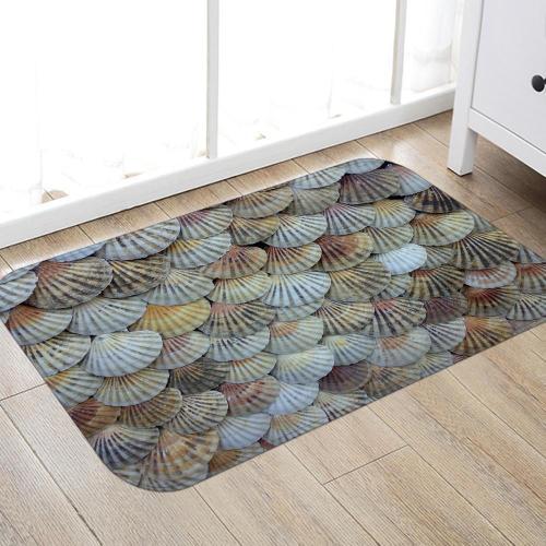 Shells Digital Printing Pattern Rug Bedroom Living room Door Bathroom Anti-slip Floor Mat Carpet
