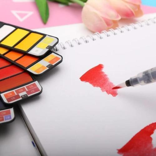 Collapsible Portable Watercolor Kits