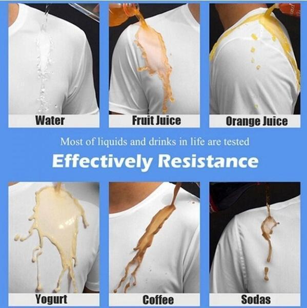 Ice Silk Anti-Dirty Waterproof Quick Dry T-Shirt