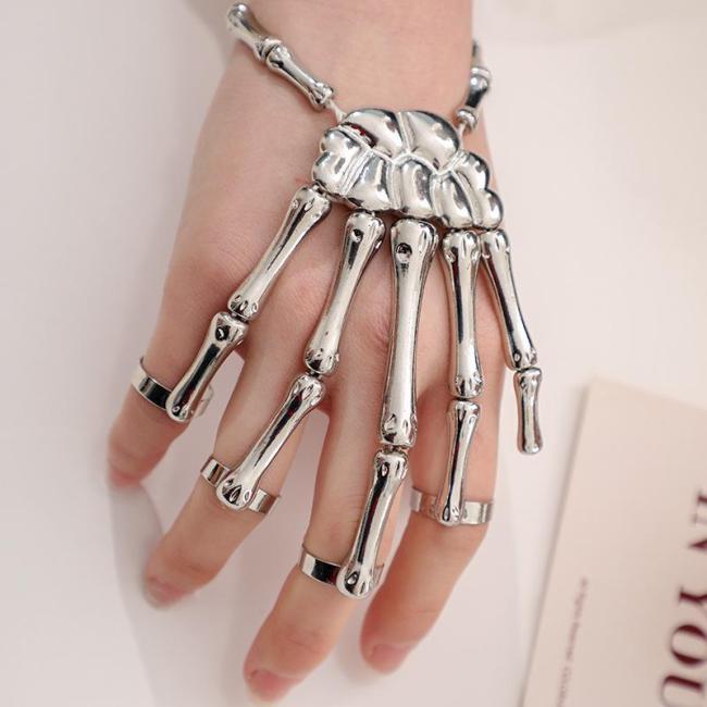 Skeleton Hand Bracelet (Adjustable Size)