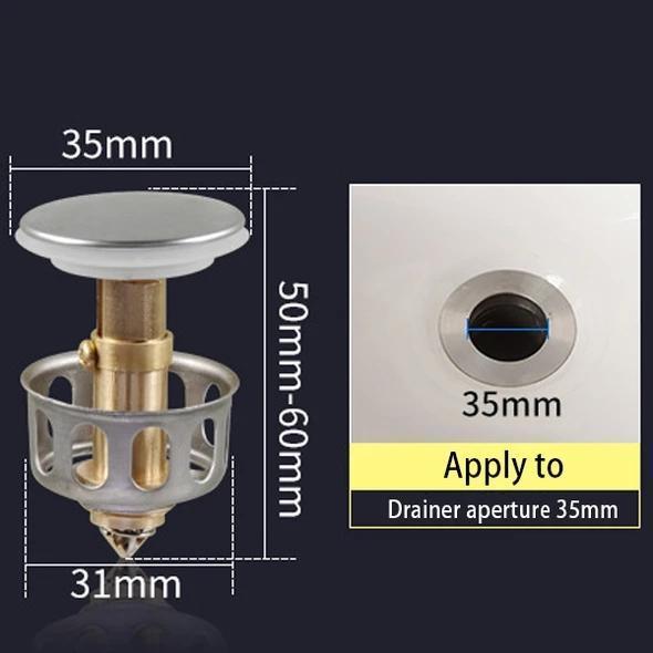 Universal wash basin bounce drain filter