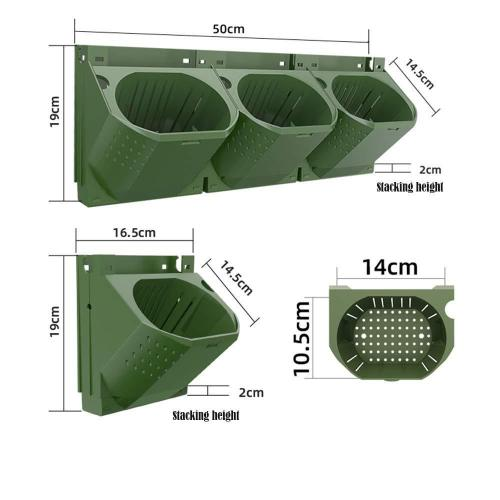 Combination Wall Planting Pots