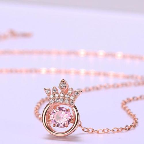 Beating Heart Crown Smart Necklace