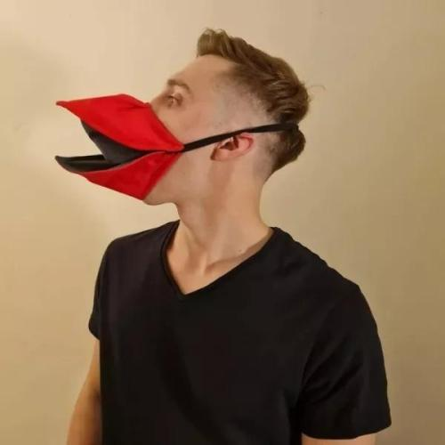 Hand Made Duck Talking Face Cover * When You Move YourJaw