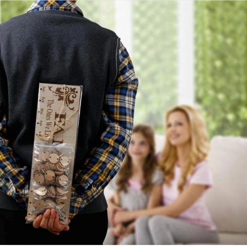 Xmas Sale Buy 2 Get 1 Free - Wooden Family Birthday Reminder Calendar Board