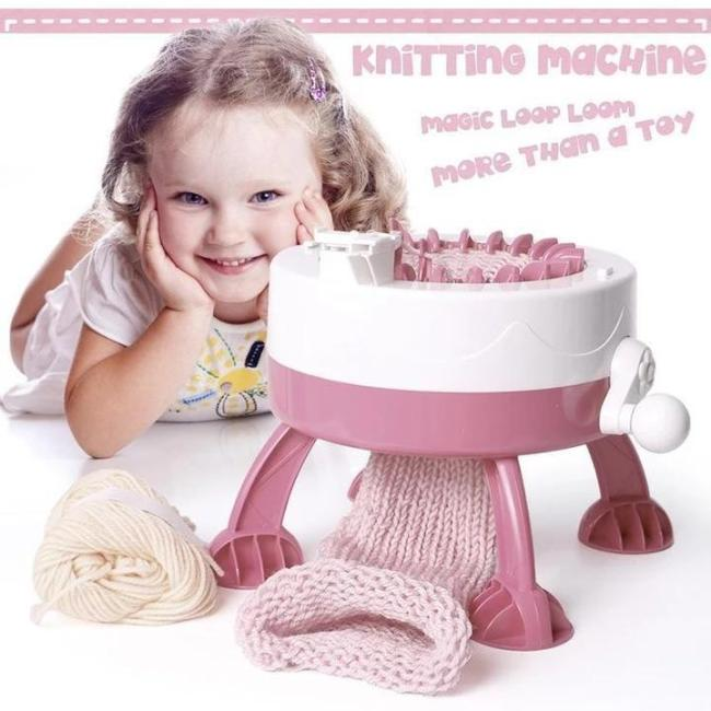 🎇Free shipping ✨  DIY Kid 22 Needles Knitted Machine Toy+Parent-Child Toy