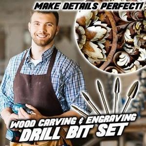 Wood Carving & Engraving Drill Bit Set
