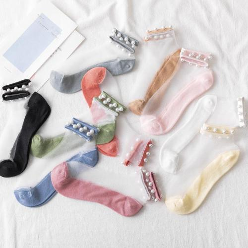 Pearl transparent socks