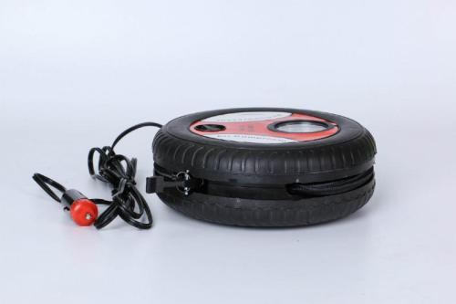 Car Mini Inflatable Pump 260PSI DC12V Metal Plastic Electric Air Compressor Monitor Pump with 3 Nozzle Adapters Big/Small motors