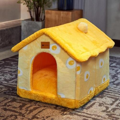 FOLDABLE DOG HOUSE KENNEL BED MAT