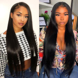 13*6 black Lace Front Human Hair Wigs With Baby Hair