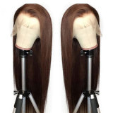 Straight Brown Color 13X6 Lace Front Hair Wigs With Baby Hair
