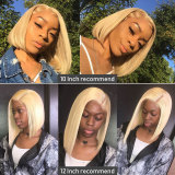 Transparent Lace Front human hair Wig with bleached knots