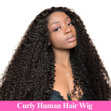13*6 Kinky Curly human hair Wigs For Women 150% Density