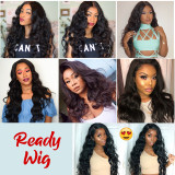 Brazilian human hair Body Wave Pre Plucked Lace Front Wig