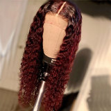 Brazilian curly Lace Frontal Wig with pre-plucked hairline