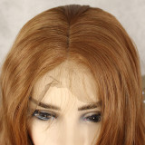 13*6 brown synthtic wig with natural hairline