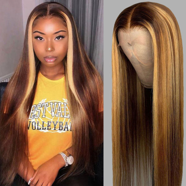 ReadyWig Highlight Color Deep Part Lace Front Human Hair Wig - Customized