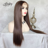Flax Brown Synthetic Wigs Heat Resistant Wigs for Women  Natural Looking Free Parting Hairline Fashion Looking Wigs