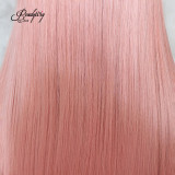 Hand Tied 13x6 Lace Wigs Synthetic Hair with Baby Hair and Pre-lucked Hairline