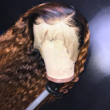 13x4 Natural Curly Lace Front Human Hair Wigs For Black Women
