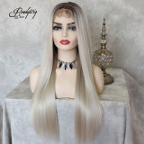 Pre Plucked 13x6 Lace Front Wig Synthetic Hair with Baby Hair for Black Women