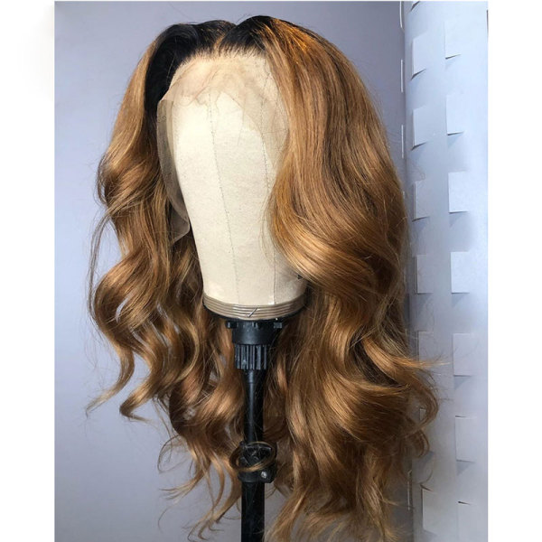 ReadyWig Ombre Color Body Wave Human Hair Lace Front Wig - Customized