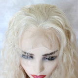 the best quality blonde curly synthetic lace wig with minimal shedding