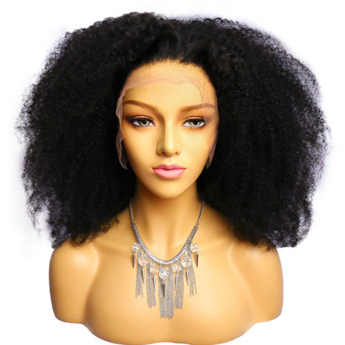 ReadyWig Black Afro Kinky Curly Human Hair Lace Front Wig - Customized