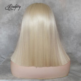 Pre Plucked 13x6 Lace Front Wig Synthetic Hair bob wig with Baby Hair for Black Women