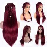 soft and beautiful red huaman wigs with no shedding and tangling