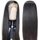 13*4 Straight Brazilian Black Lace Wig Free Part Bleached Knots